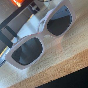 Versace Trendy White Rectangle Sunglasses